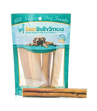 Best Bully Sticks Premium 6-Inch Jumbo Bully Sticks - All-Natural, Free-Range, Grass-Fed, 100% Beef Single-Ingredient Dog Chews