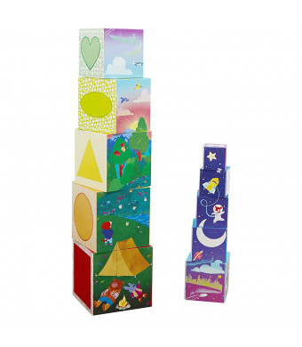 Educational Insights Bright Basics Nest and Stack Cubes