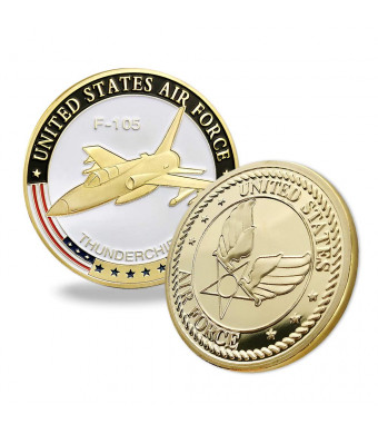 United States Air Force Challenge Coin F-105 Thunderchief Military Coins for Airman