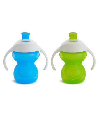 Click Lock Bite Proof Trainer Cup, Blue/Green, 7 Ounce, 2 Count