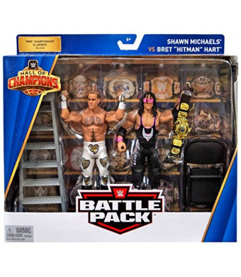 WWE Hall of Champions Bret Hart/Shawn Michaels Action Figures, 2 Pack