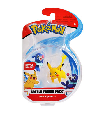 "Pokemon 2 Inch Battle Action Figure 2-Pack, includes 2"" Pikachu and 2"" Popplio"