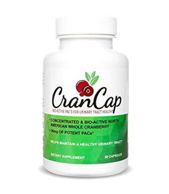 CranCap Cranberry Supplement for Urinary Tract Health | 36mg PAC | Powerful Urinary Tract Infection Prevention