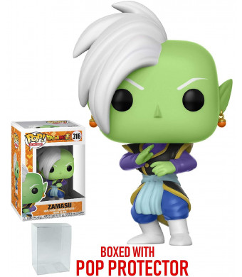 Funko Pop! Anime: Dragon Ball Super - Zamasu Vinyl Figure (Bundled with Pop BOX PROTECTOR CASE)