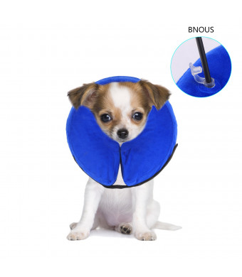 PetAZ Pet Recovery Inflatable Collar, Comfortable Soft E-Collar for Dogs Cat, Postoperative Wound Healing