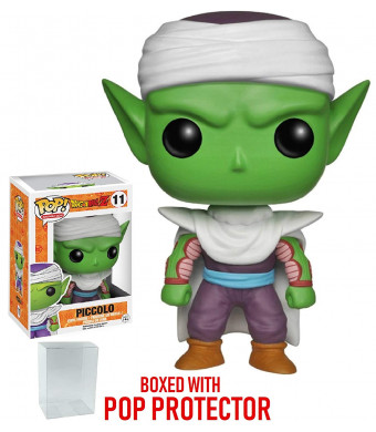 Funko Pop! Anime: Dragon Ball Z - Piccolo Vinyl Figure (Bundled with Pop BOX PROTECTOR CASE)