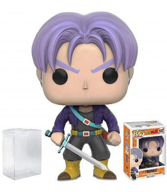 Funko Pop! Anime: Dragon Ball Z - Trunks Vinyl Figure (Bundled with Pop BOX PROTECTOR CASE)