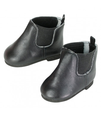 Sophia's Black Chelsea Booties for 18 Inch Dolls, Fits American Dolls and More!