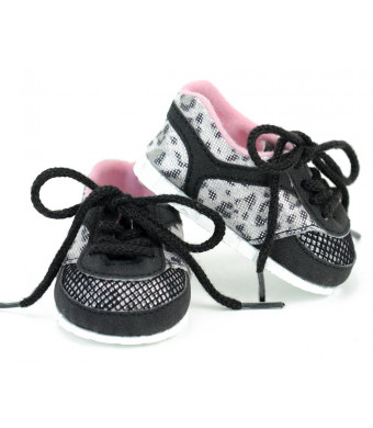 Sophia's Animal Print Sport Sneakers by 18 Inch Doll Tennis Shoes in Leopard Print with Laces