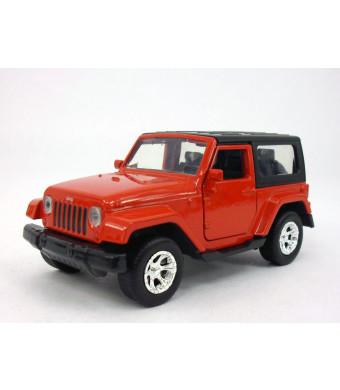 4.5 inch Jeep Wrangler 1/32 Scale Diecast Metal Model - Red