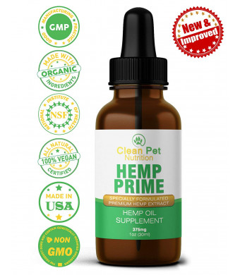 Hemp Oil for Dogs and Cats - Full Spectrum Organic Drops Hemp Oil for Anxiety and Stress Relief- Arthritis Pain Relief - Hip and Joint Dog Supplement- Apply to Hemp Prime Treats