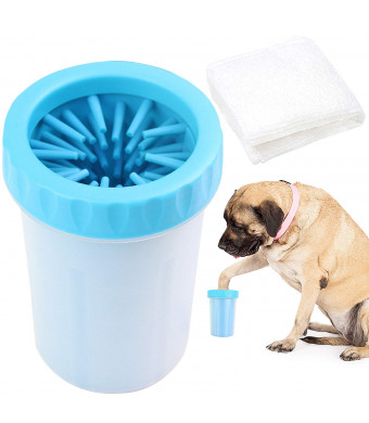 Paw Legend Portable Dog Paw Washer with Towel - Pet Paw Cleaner for Dogs,Cats Grooming with Muddy Paws - Comfortable Silicone Dog Feet Cleaner