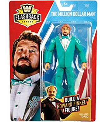 WWE Basic Flashback Series The Million Dollar Man Ted DiBiase Action Figure (Build Howard Finkel)