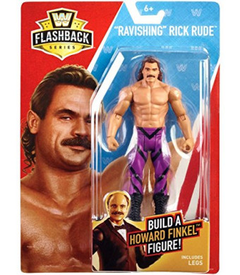 WWE Basic Flashback Series Ravishing Rick Rude Action Figure (Build Howard Finkel)