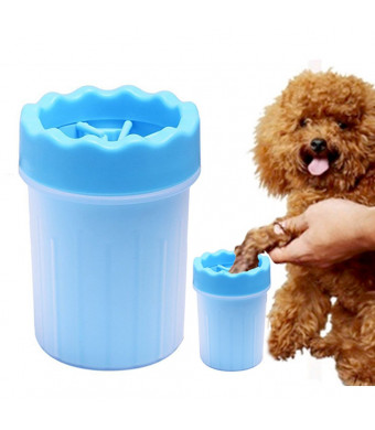 SUNTA Portable Dog Paw Cleaner Pet Cleaning Brush Cup Dog Foot Cleaner