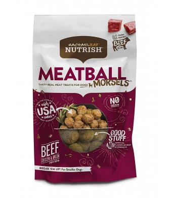 Rachael Ray Nutrish Meatball Morsels Grain Free Dog Treats, Beef, Chicken and Bacon Recipe, 12 Oz.