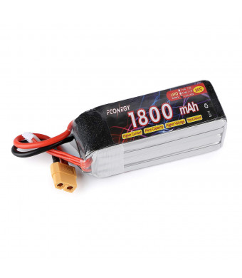 Fconegy 4S 14.8V 1800mAh 80C Lipo Battery Pack with XT60 Plug for FPV Products
