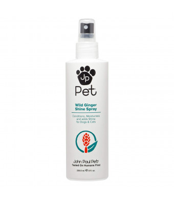 John Paul Pet Wild Ginger Shine Spray for Dogs and Cats, Soothes Conditions Moisturizes and Revitalizes Shine, Non-Aerosol, 8-Ounce