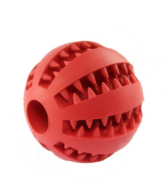 Eudally Dog Toy Ball for Pet Chewing/Interactive IQ Training/Playing,Non-Toxic Tooth Cleaning Toy-Size 2.75""