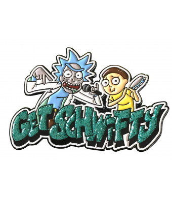 """Zen Monkey Studios Officially Licensed Rick and Morty - Get Schwifty 1.65"""" Collectible Pin"""