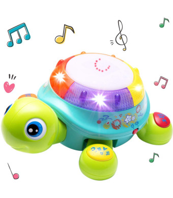 Musical Turtle Toy, English and Spanish Learning, Electronic Toys w/ Lights and Sounds, Early Educational Development Gift, 6, 7, 8, 9, 10, 11, 12 Months and Up, Baby, Infants, Toddlers, Boys, Girls