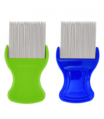 Petnazz Dog Tear Stain Comb Extra Fine Tooth Remover (Rake Gently and Effectively Gets Rid of Crusty, Mucus, and Gunk Around Your Pets) J0603