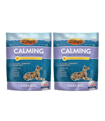 Zuke's Enhance Calming Chicken Formula Functional Dog Chews - 5 oz x 2 Pack Pouch