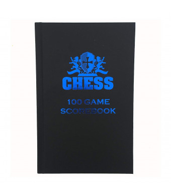 WE Games Chess Scorebook and Notation Pad - Black Hardcover