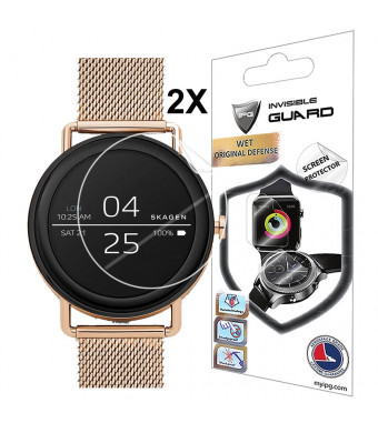 for Skagen Falster Smartwatch Screen Protector (2 Units) with Lifetime Replacement Warranty Invisible Protective Screen Guard - Smooth/Self-Healing/Bubble -Free by IPG