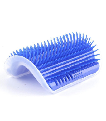 Cat Self Groomer, Pet Self-Groomer with Catnip, Pet Brush Comb Play Toy, Pet Plastic Scratch Bristles Arch Massager Nailed to Wall, Comfortable Pet Hair Remover