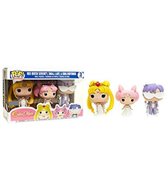 Funko Pop! Animation Sailor MoonExclusive 3 Pack Neo Queen Serenity,Small Lady and King Endymion