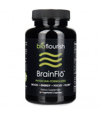 Nootropic Energy and Focus Brain Supplement: Non GMO Natural Cognitive Enhancement Pills for Mood, Memory, Mental Clarity, Concentration and Flow - Daily Brain Boosting Support Supplements - 30 Capsules