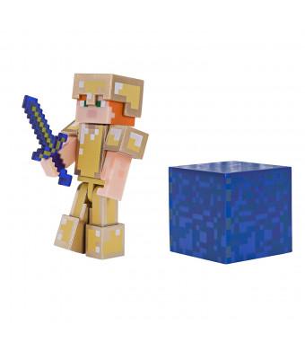 Minecraft Alex in Gold Armor Figure Pack