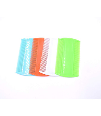 ArtandBeauty 4 Pieces Flea Lice Combs, Double Sided, Cat Dog Pet Grooming Fine Tooth Hair Combs