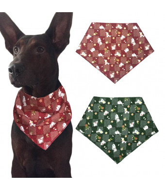KZHAREEN Easter Dog Bandanas Triangle Bibs Scarf Accessories for Dogs Cats Pets Animals