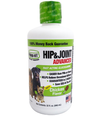 Liquid-Vet K9 Hip and Joint Advanced Formula, Chicken Flavor, 32 oz