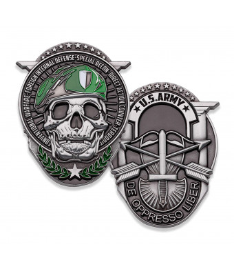 U.S. Army Special Forces Challenge Coin! Amazing Army Special Ops Military Challenge Coin, Designed By Military Veterans and Officially Licensed Military Coin!
