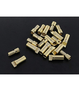 10 Pairs 3.5mm Bullet Connector Gold Plated 60A Rated (Low-Profile)