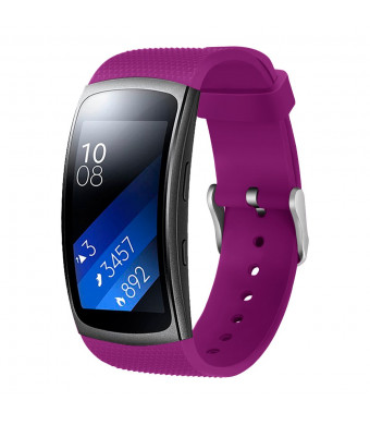 """Aresh Compatible Samsung Gear Fit2 Pro Band/Gear Fit2 Band, Replacement Bands Accessories Compatible Samsung Gear Fit2 SM-R360 /Gear Fit2 Pro SM-R365 Smartwatch (5.9""""-7.5"""") (Purple)"""