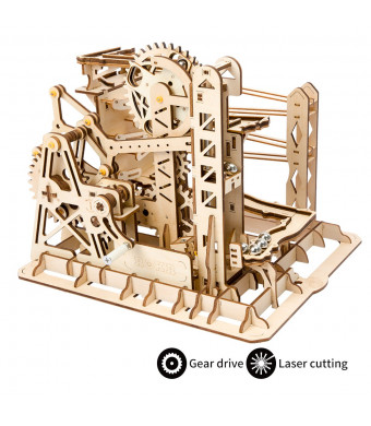 ROBOTIME 3D Puzzle Engineering Toys STEM Learning Kits Wooden Laser-Cut Model Kit Best Mechanical Gears Toy Gifts for Adults and Teens