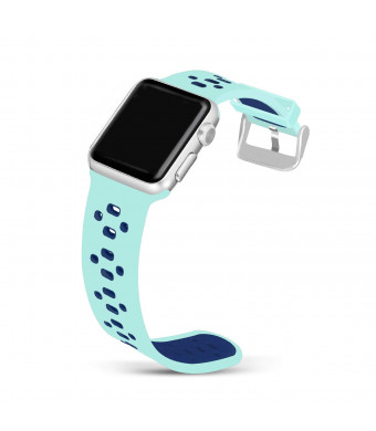 Jobese Compatible Apple Watch Bands 42mm/44mm 38mm/40mm, Soft Silicone Breathable Sport Bands Compatible Apple Watch Series 4, Series 3, Series 1/ 2, Sports/ Edition Accessories Wristbands