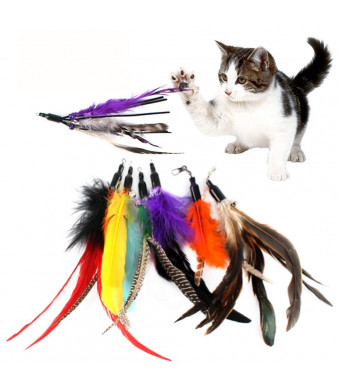 Gutian Cat Toy Refill, Interactive Cat Toys Replacement for Cat and Kitten Toy Wand - 7 Pack