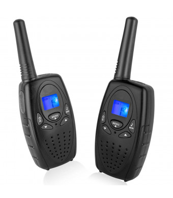Walkie Talkies for Adults, Topsung M880 FRS Two Way Radio Long Range with VOX Belt Clip/Hand Held Walky Talky with 22 Channel 3 Mile for Family Home Cruise Ship Camping Hiking (Black 2 in 1)