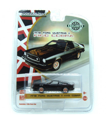 1978 Ford Mustang II King Cobra Black and Gold Hobby Exclusive 1/64 Diecast Model Car by Greenlight 29937