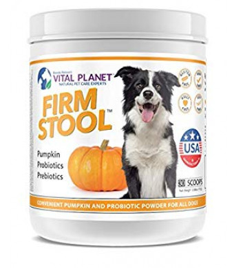 Vital Planet - Firm Stool - Eliminates Dog Diarrhea and Gas - Pumpkin, Probiotics and Prebiotics For Healthy Digestion, Immune Support and Reqularity - 111 Grams 30 Servings