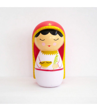 Shining Light Dolls LLC St. Lucy Collectible Vinyl Doll with Prayer and Story Card