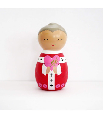 Shining Light Dolls LLC St. Valentine Collectible Vinyl Figure with Prayer and Story Card