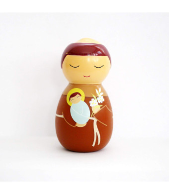 Shining Light Dolls LLC St. Anthony of Padua Collectible Vinyl Figure with Prayer and Story Card