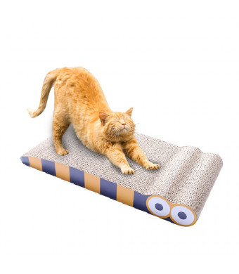 MORFONE Cardboard Cat Scratcher,cats Lounge, Durable Reversible Pet Scratching Pad and Sofa