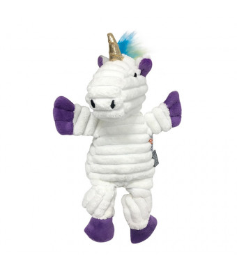 """FOUFIT 85662 Rainbow Bright Knotted Toy for Dogs, Unicorn, Small, 10"""""""